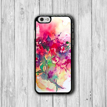 Abstract Art Rose Flower Painting Floral iPhone Case - iPhone 6, iPhone 6 Plus, iPhone 5S, iPhone 5 Case, iPhone 5C, iPhone 4S Watercolor