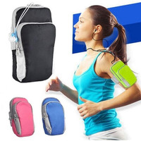 Universal Sports Armband Case Zippered Fitness Running Arm Band Bag Pouch Jogging Workout Cover for Mobile Phone Smartphone