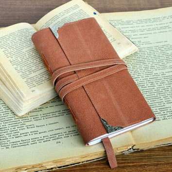 Leather journal Leather travel journal Notebook leather Hand bound journal Brown leather journal Softbook Sketchbook Leather covered journal