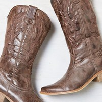 AEO Women's Stitched Cowboy Boot (Brown)