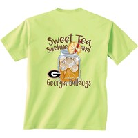 Georgia Bulldogs Sweet Tea Glass T-Shirt | UGA Tea Glass T-Shirt | UGA Sweet Tea T-Shirt