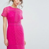 Oasis Lace Shift Dress at asos.com