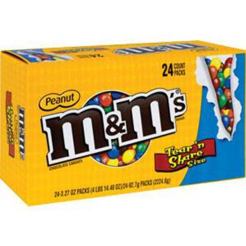 M&M'S PEANUT CANDY, KING SIZE (24 CT.)