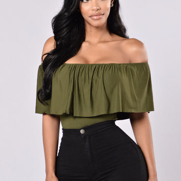 Happy Hour Bodysuit - Olive
