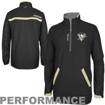 Reebok Pittsburgh Penguins Center Ice Hot Pullover Performance Jacket - Black