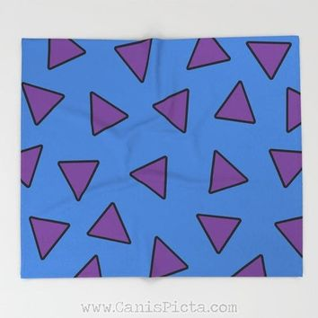 Rocko's Modern Life Blanket Throw Pattern Home Decor Nostalgia TV Show Decorative Television Gift Fan Room Bed Purple Blue Triangle Fandom