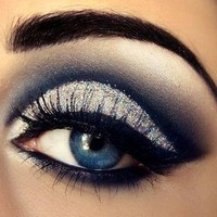 beautiful, eyes, black, blue, make-up - inspiring picture on Favim.com
