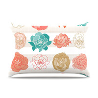 "Pellerina Design ""Flower Square"" Multicolor Floral Pillow Case"