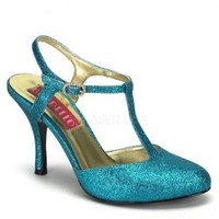 Turquoise Glitter T Strap Heels @ Amiclubwear Heel Shoes online store sales:Stiletto Heel Shoes,High Heel Pumps,Womens High Heel Shoes,Prom Shoes,Summer Shoes,Spring Shoes,Spool Heel,Womens Dress Shoes,Prom Heels,Prom Pumps,High Heel Sandals,Cheap Dress S