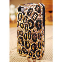 iPhone4S/4/3GS iPod Touch4G Leopard Two Side Cover - GULLEITRUSTMART.COM