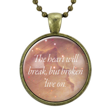 Inspirational Quote Necklace, Motivational Words Jewelry, Love Quote Pendant