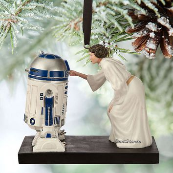 Licensed cool 2015 Disney Store Star Wars Princess Leia & R2-D2 Sketchbook Christmas Ornament