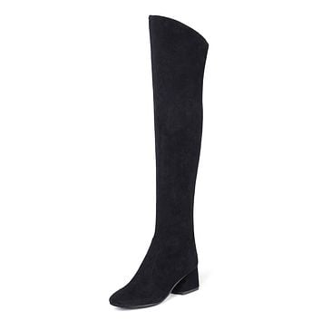 Suede Tall Boots Winter Shoes for Woman 5665