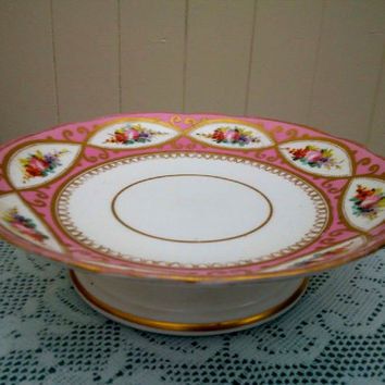 19th Century Antique Low Comport / Tazza possibly Coalport or Minton