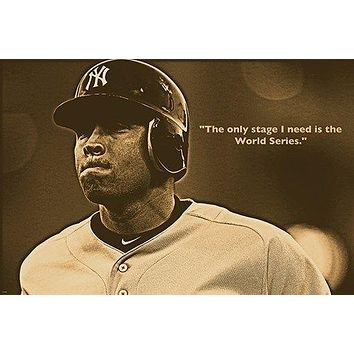 "ALEX RODRIGUEZ  ""A-ROD"" QUOTE baseball great VINTAGE SPORTS POSTER 24X36"
