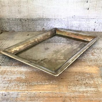 Serving Tray Vanity Tray Dresser Top Tray Silver Serving Tray Cocktail Tray Vintage Wedding Decor Centerpiece Base Makeup Tray Vintage Tray