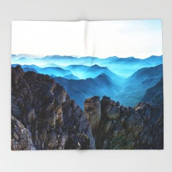 Mountains Breathe Too Throw Blanket by Mixed Imagery