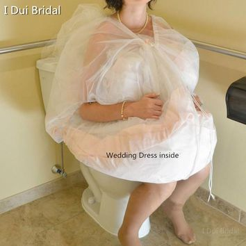 One Size Fit All Bridal Buddy Wedding Dress Petticoat Underskirt Save You From Toilet Water Wedding Accessories