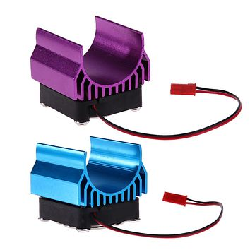 Motor Heat Sink With Fan Cooling Head for 1-10 RC Car 540 550 3650 Motor RC Car Parts & Accessory