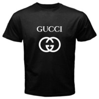 New GUCCI Double G Logo Men and Women Black and White by Waroeng77