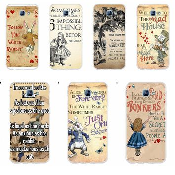 The Mad Hatter Alice In Wonderland Quote Soft Phone Cover Case For Samsung Galaxy A3 A5 A7 J1 J2 J3 J5 J7 2015 2016 2017