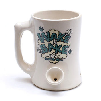 HUF - HUF X ALIVE & WELL WAKE AND BAKE MUG // WHITE