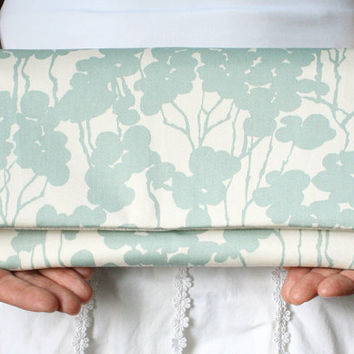 Formal Clutch - Mint and Cream Dogwood Bridesmaids Clutch