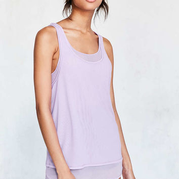 Silence + Noise Selda Double Layer Mesh Tank Top - Urban Outfitters
