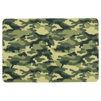 Green Camouflage Pattern Floor Mat