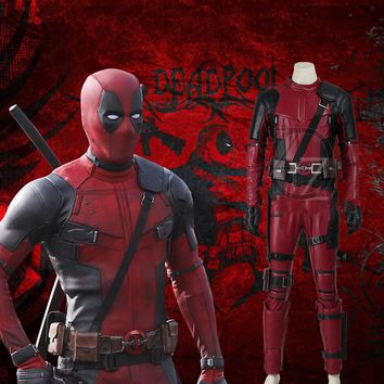 Superhero Deadpool X-men Wade Wilson Cosplay Costume Custom Made