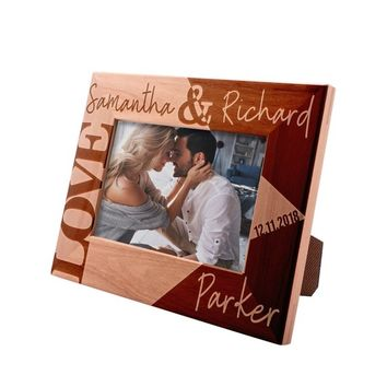 Personalized Picture Frame 4x6 - Love Personalized Romantic, Wedding and Engagement Photo Frame, Valentine's Day Keepsake Gift for Couples