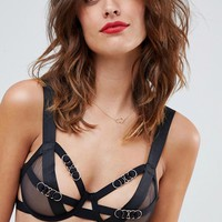 Bluebella Orion underwire non padded bra in black at asos.com