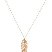 Willetta Feather Necklace