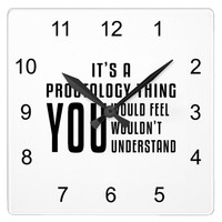 Its a proctology thing square wall clock