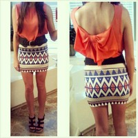 Prints & Patterns Mini Skirt from Monica's Closet Essentials