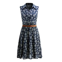 2017  women Retro Vintage summer dress  Floral Print Dot Robe Femme Rockabilly Plus Size Pinup Swing Party Dress Free Shipping