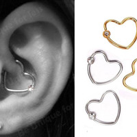 *HOT SALE! BUY 1 GET 1 FREE GIFT  Daith Heart Ring