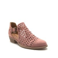 Women's Mauve Cut Out Bootie