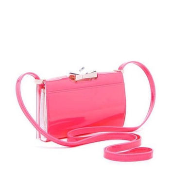 Ted Baker London Tally Patent Crystal Bow Leather Crossbody