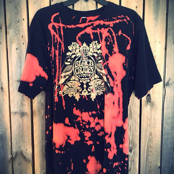 The Black Crows size Large, bleach tie dyed  soft grunge, hippie, concert wear, band clothes, rock shirt