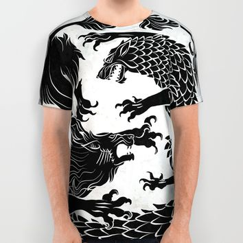 Game Of Thrones All Over Print Shirt by Amy S. | Society6