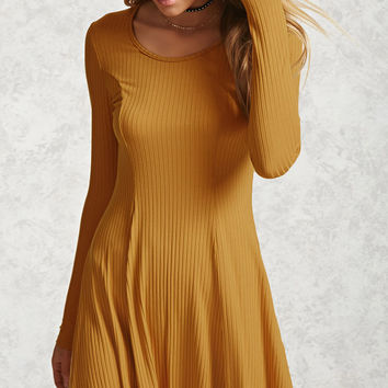 Ribbed Knit Swing Dress