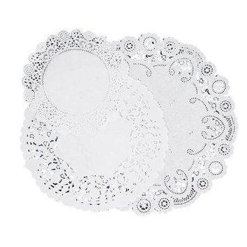 """Pacon Corporation Paper Doilies, Assorted Sizes 4""""-6""""-8"""", 30-PK, White - CASE OF 6"""