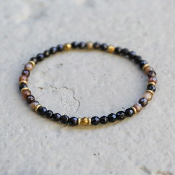 Onyx and Agate Delicate Bracelet