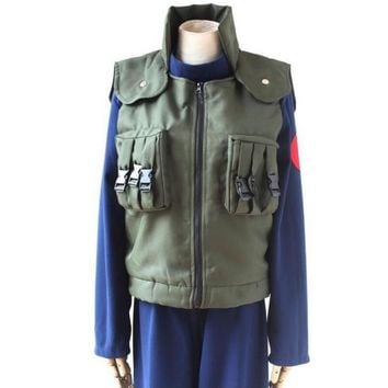 Halloween Costumes Naruto Anime Costume Clothes Cosplay Kakashi Shippuden Ninja Vest Men S-XXL