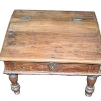 Antique Mogul Wooden Money Lender Desk (Muneem Desk)
