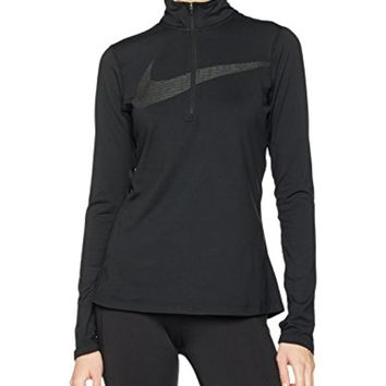 Nike Dry Women's Dri-Fit Half Zip Running Jacket Black 844623 010