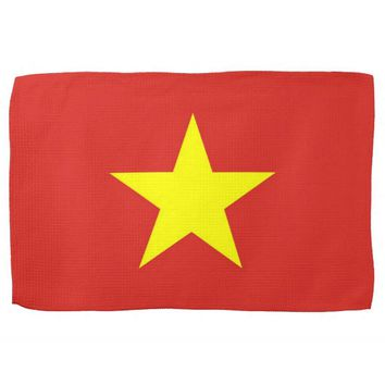 Kitchen towel with Flag of Vietnam