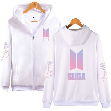 KPOP BTS Bangtan Boys Army 2018   cotton Zipper oversized Hoodies Sweatshirts women men CoatsHarajuku moletom  boys Hip Hop tracksuit 4xl AT_89_10