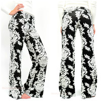 Living Color Black Printed Palazzo Pants